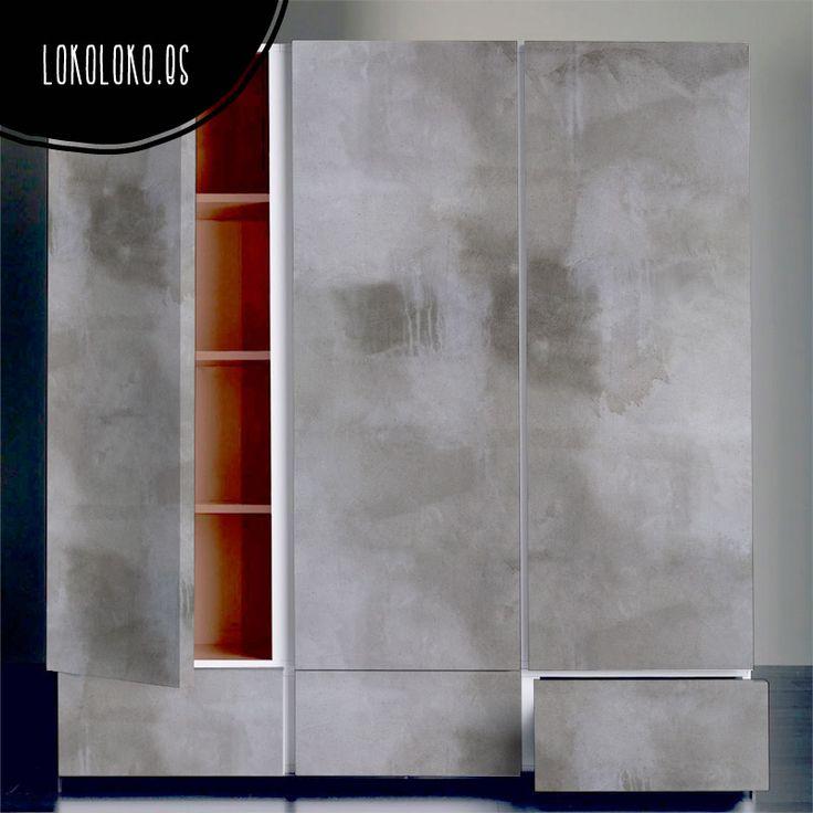Hormigón Gris Oscuro · Redecora tu armario con vinilo adhesivo de texturas naturales / Adhesive vinyl to decorate cupboards. #lokolokodecora