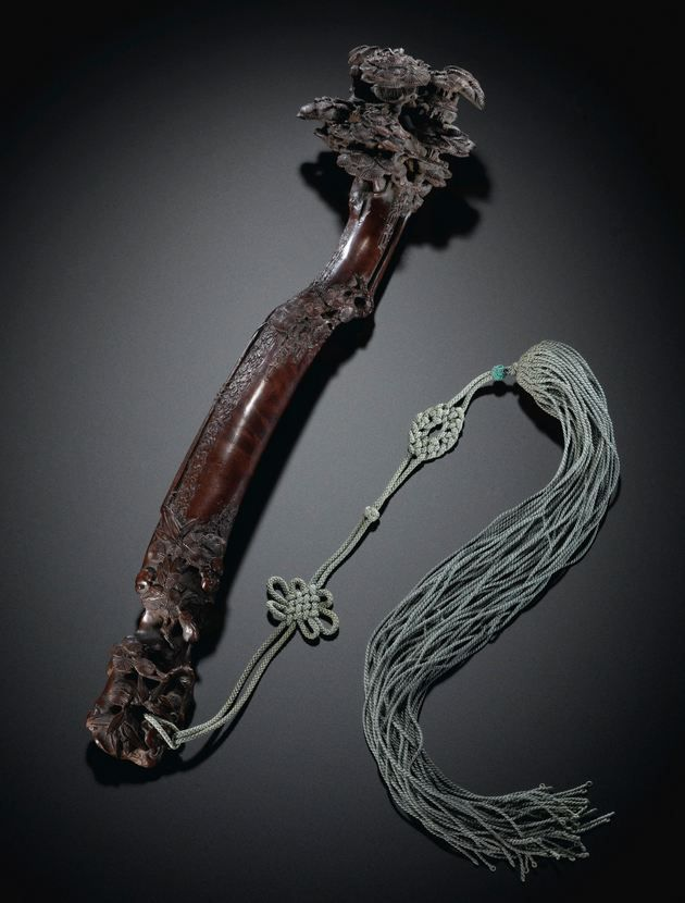 A HARDWOOD 'PINE' RUYI SCEPTRE - QING DYNASTY, 18TH CENTURY. | Sotheby's