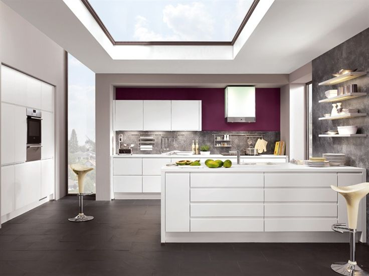 Lacquered kitchen INTEGRA 864 by Nobilia-Werke - like style with textured splash back