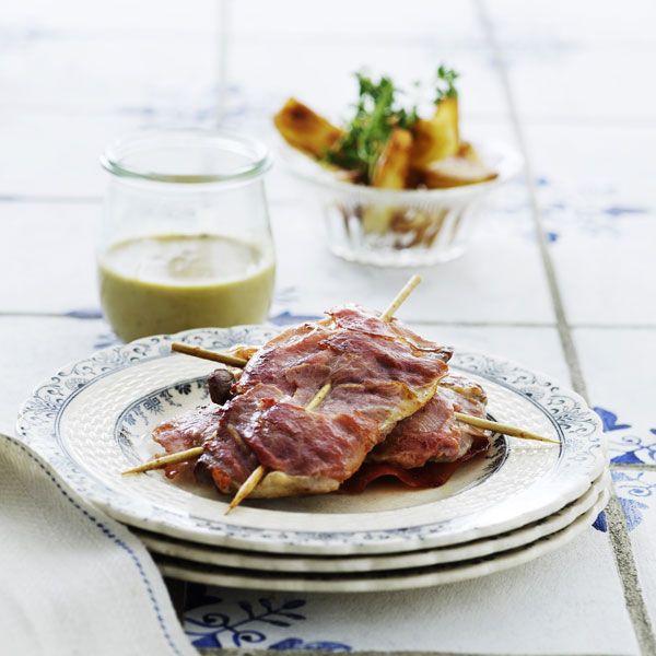 Stegt kalvekød med parmaskinke og gorgonzola