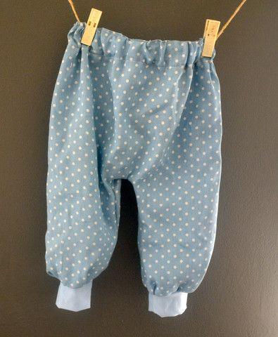 Demin Dots Harem Pants
