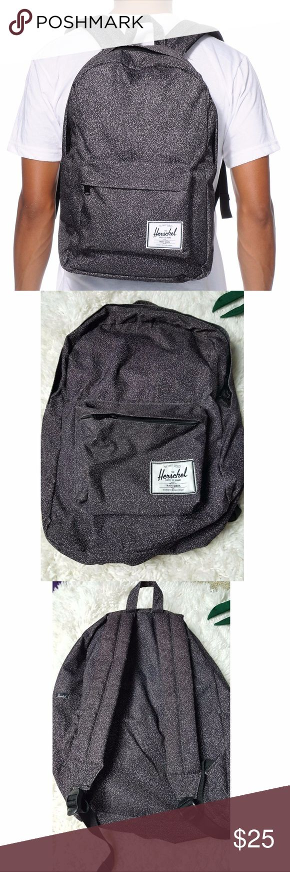 """Herschel Purple Speckled Book Bag Signature coated poly fabric lining. Single front zip pocket and main compartment. Hanger loop at top. Herschel Supply logo patch on front. Padded shoulder straps for comfort. 16.5"""" x 12"""" x 5.75"""". 21L volume capacity.  #1892 Herschel Supply Company Bags Backpacks"""