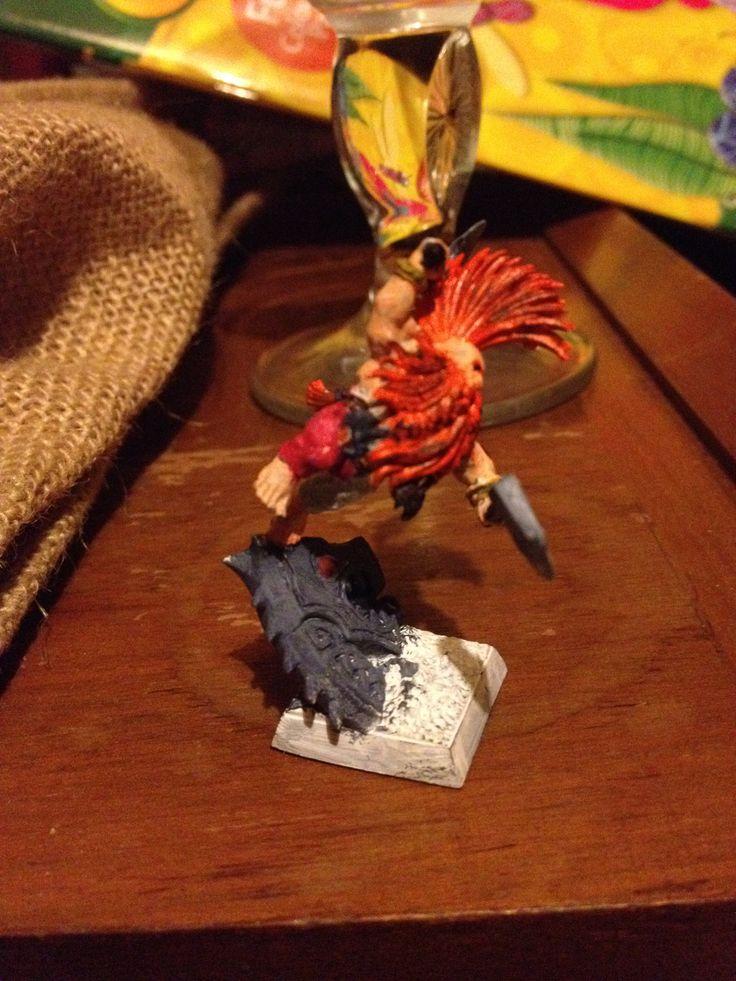 Dwarven dragonslayer, not yet finished painting.