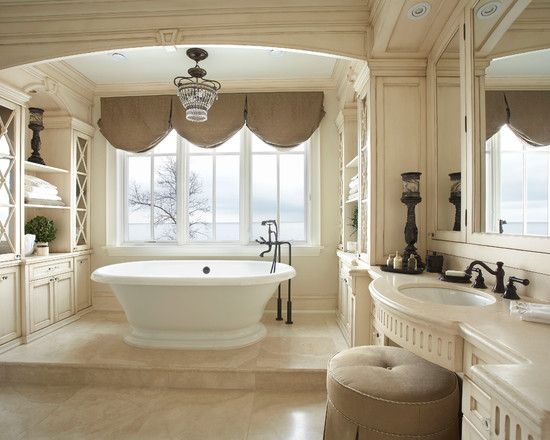 Awesome luxury interior design style bright bathroom with