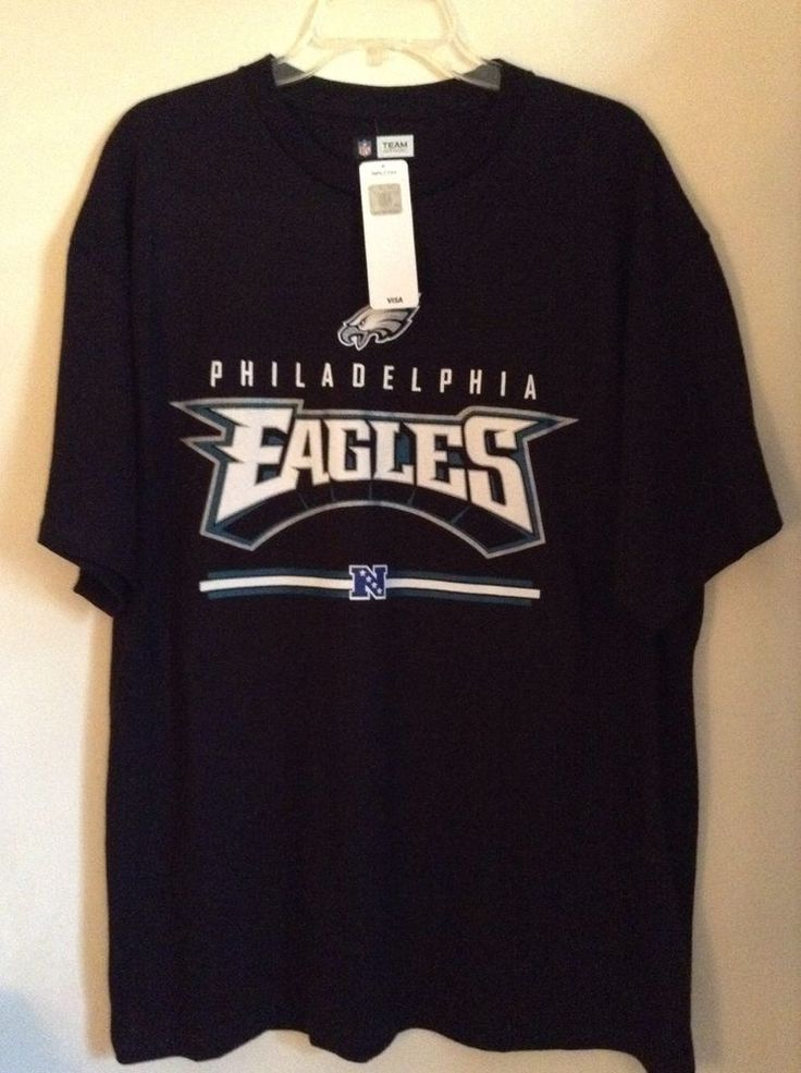 Philadelphia Eagles Black T-Shirt size XL NFL Apparel New with tags 100% cotton #NFL #GraphicTee