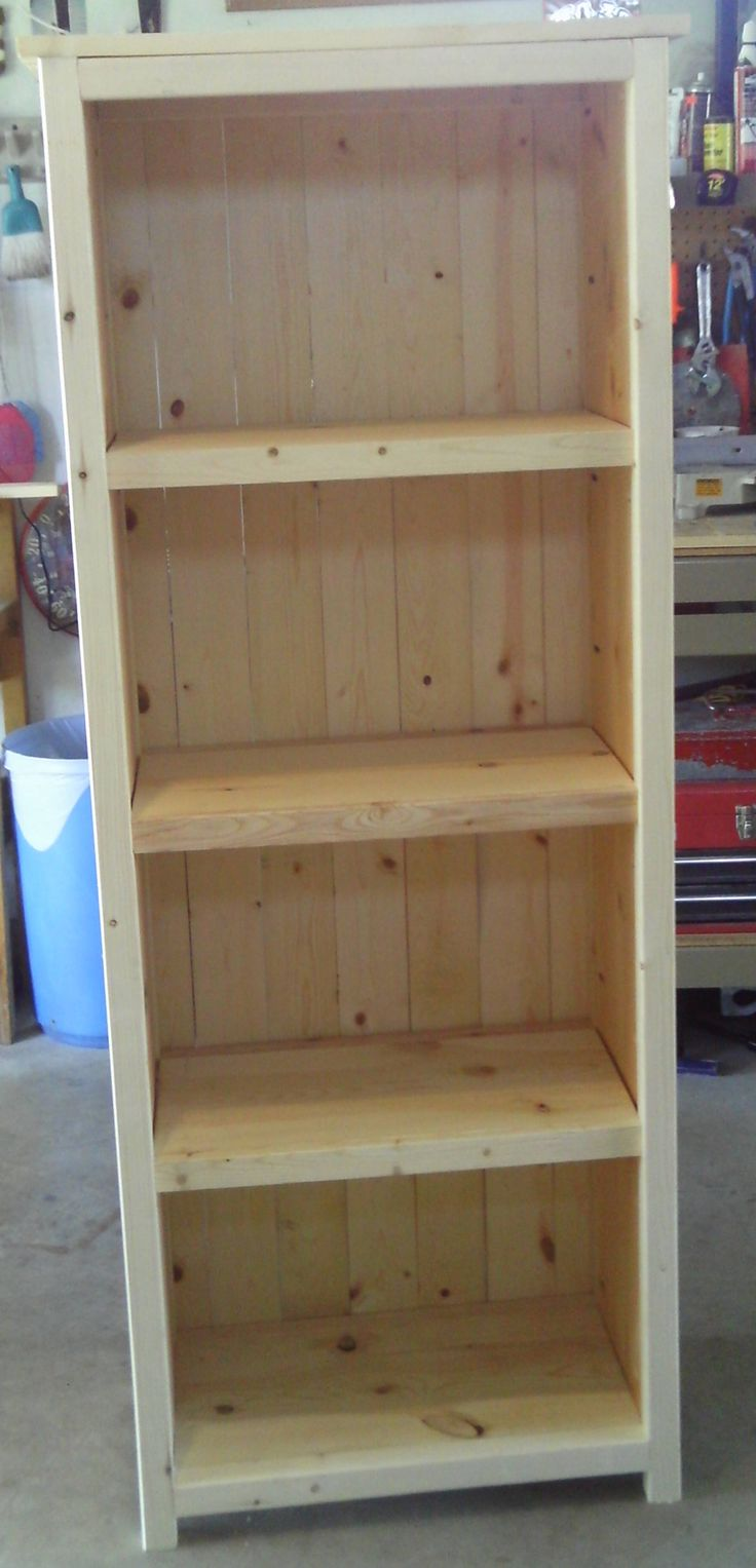 Made the Ana White bookshelf unit over the weekend. Learned what a pocket screw was and how to drill  using a Kreg Jig for pocket screw holes. The piece turned out nice. Used #2 pine boards. Directions were easy to follow.