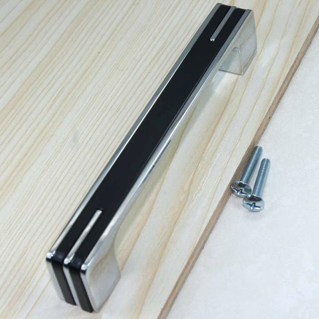 Chrome Cabinet Pulls Fashion Simple Modern Furniture Handles Shiny Silver Kitchen Drawer Pull Blac Kitchen Cupboard Handles Kitchen Drawer Handles Door Handles