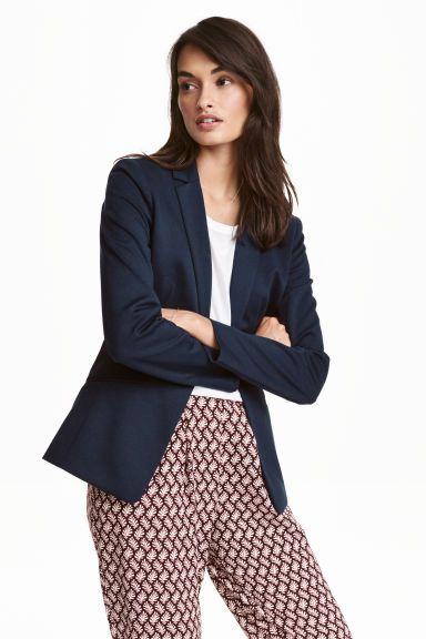 Jersey jacket - Dark blue - Ladies | H&M GB 1