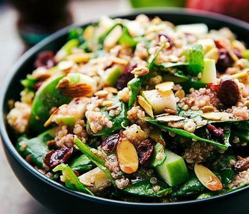Recette facile de salade santé au quinoa, pommes et amandes