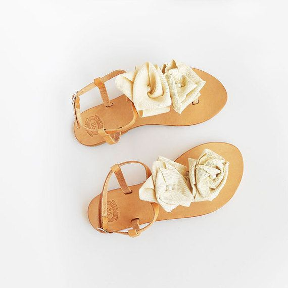 Ivory Sandals  Bridal Sandals  Wedding Sandals  by ecreation