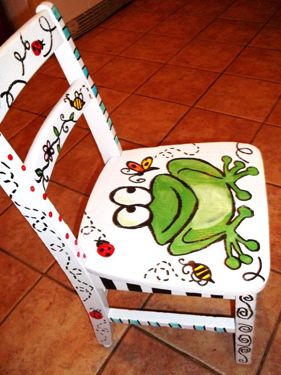 Hand painted furniture / childrens by JulesDoodles on Etsy