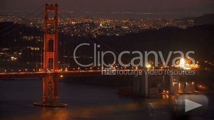 Check out this San Francisco Golden Gate Bridge Famous Time-lapse HD Stock Footage Clip. Static shot made at night. Long shot. 2012-04-13, UNITED STATES.