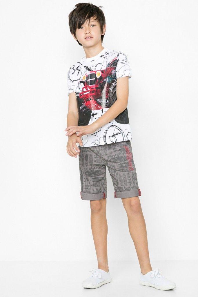 Oskar T-Shirt Indigo Bermuda Shorts | Desigual