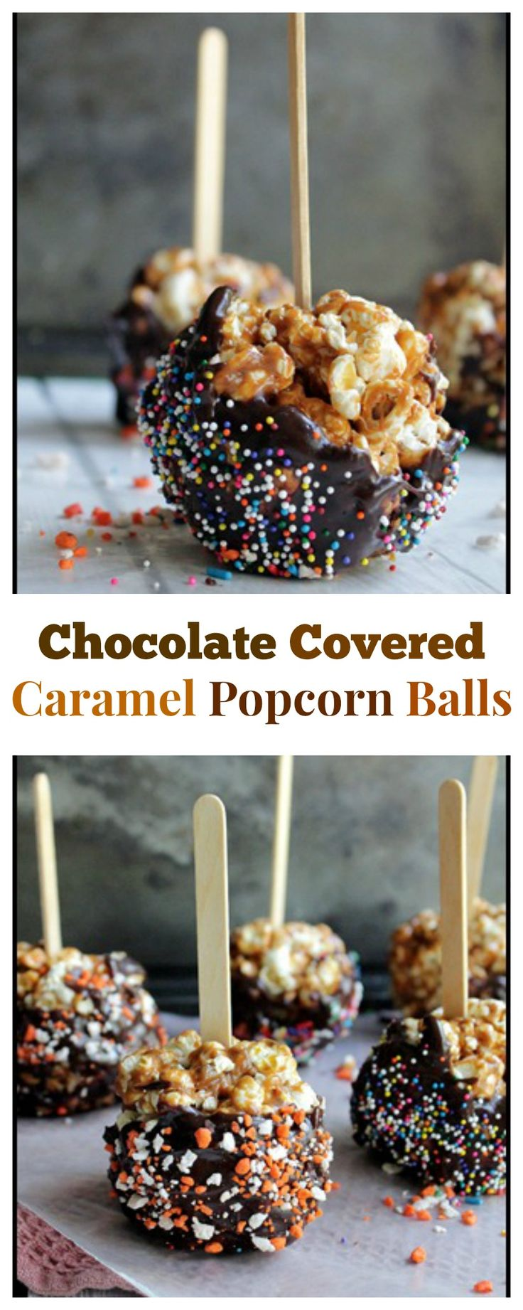 Chocolate Covered Caramel Popcorn Balls - Super easy to make and my kids love making them with me!