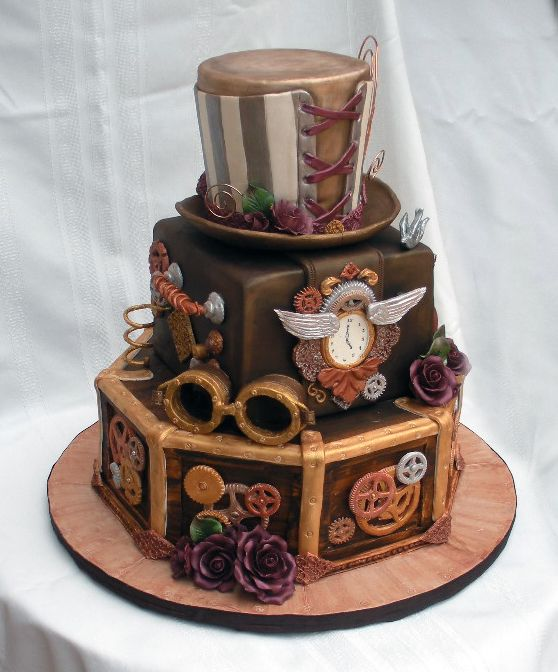 steampunk wedding cakes 17 best images about steampunk wedding on 20518