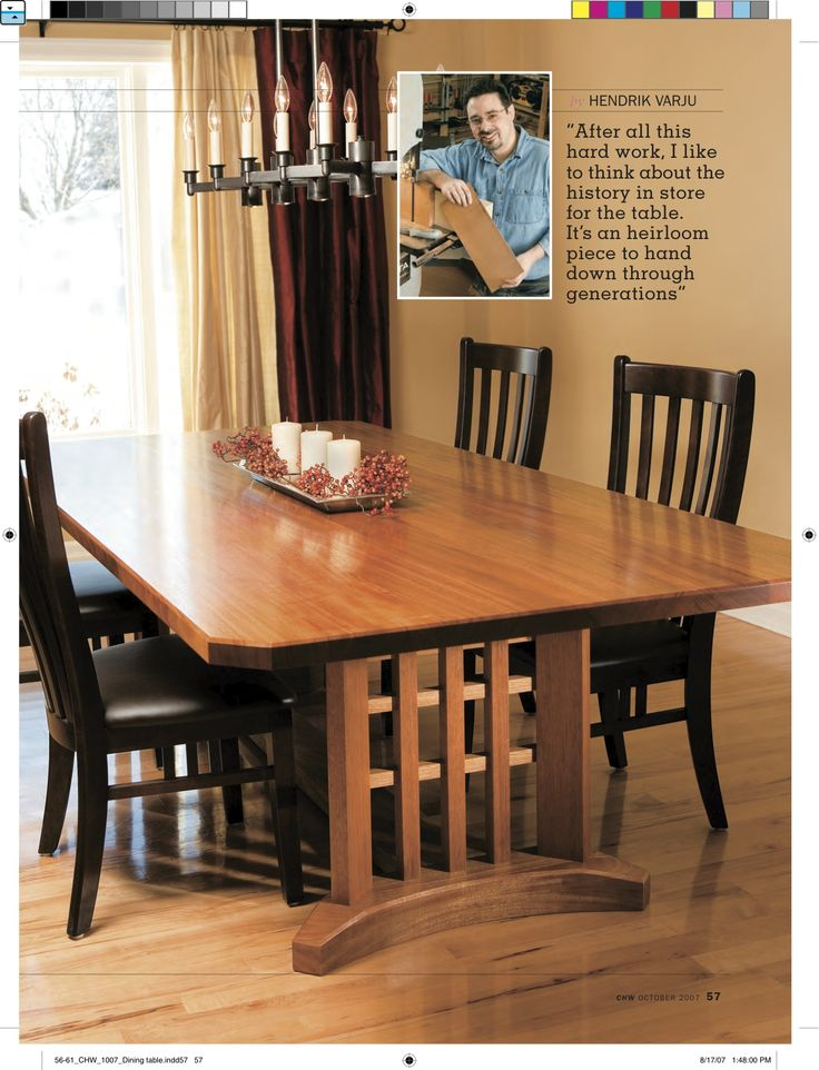 Free trestle dining table plans woodworking projects plans for Free dining table plans