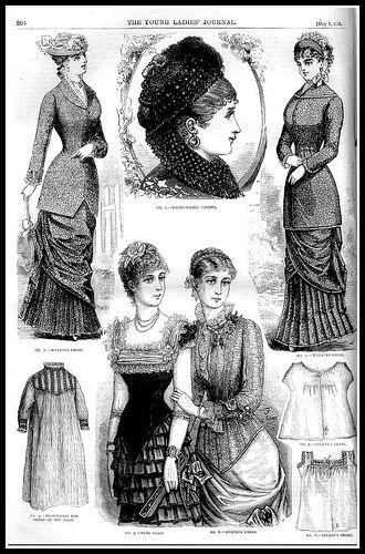 1881 Vintage Fashion Plates - The Young Ladies Journal No.16   Flickr: Intercambio de fotos