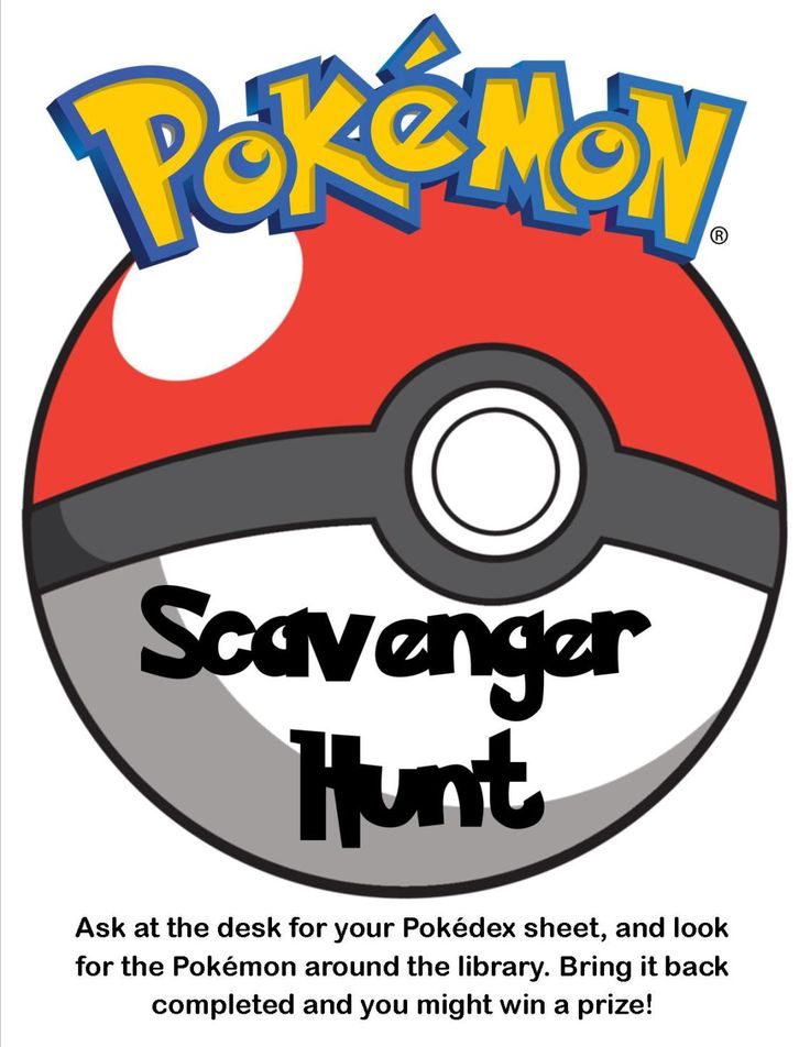 Pokemon Scavenger Hunt