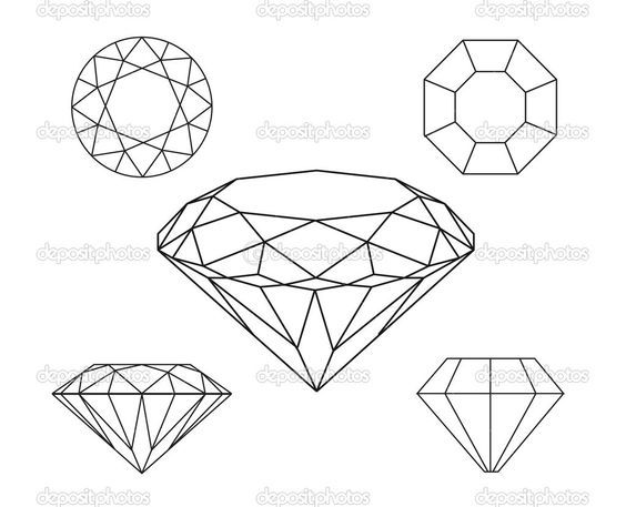 diamond line drawing - Google Search: