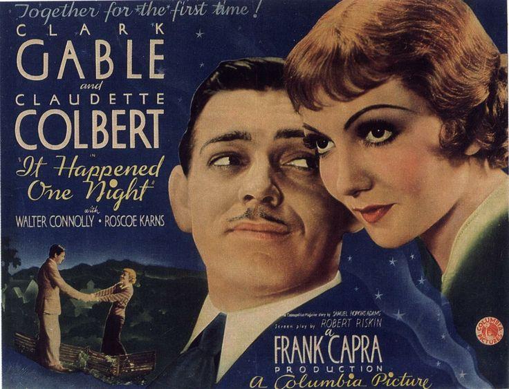 Mejor película Sucedió una Noche, presentada en 1934, premiada con el Oscar el 27 de Febrero de 1935.