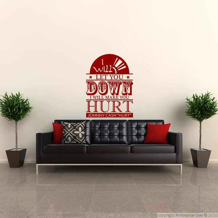 "Wall decal I will let you down - Johnny cash ""hurt"" - Wall Decal Music & Cinema Music - ambiance-sticker"