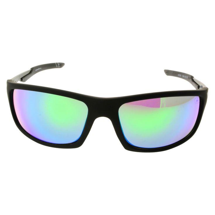Ironman Sport Sunglasses with Full Rim Green Lens - Black, Men's