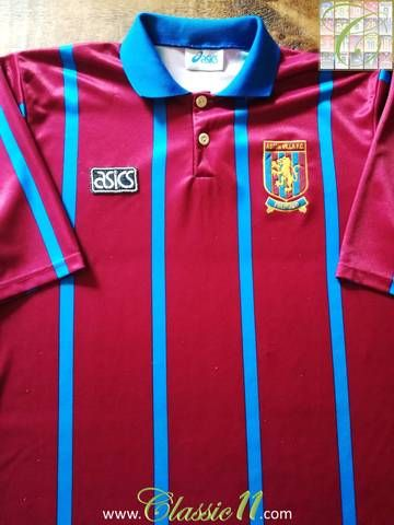 Official Asics Aston Villa home football shirt from the 1993/1994 season.