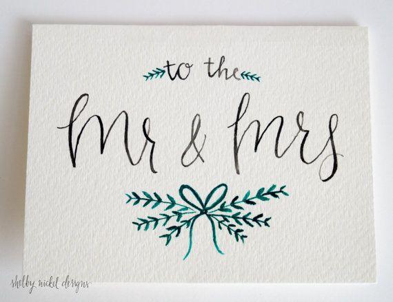Mr & Mrs Wedding Card Wedding by ShelbyNickelDesigns on Etsy