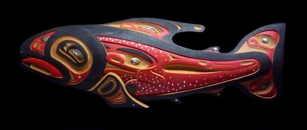 Salmon Panel by artist Charles Peter Heit - Gitksan Nation