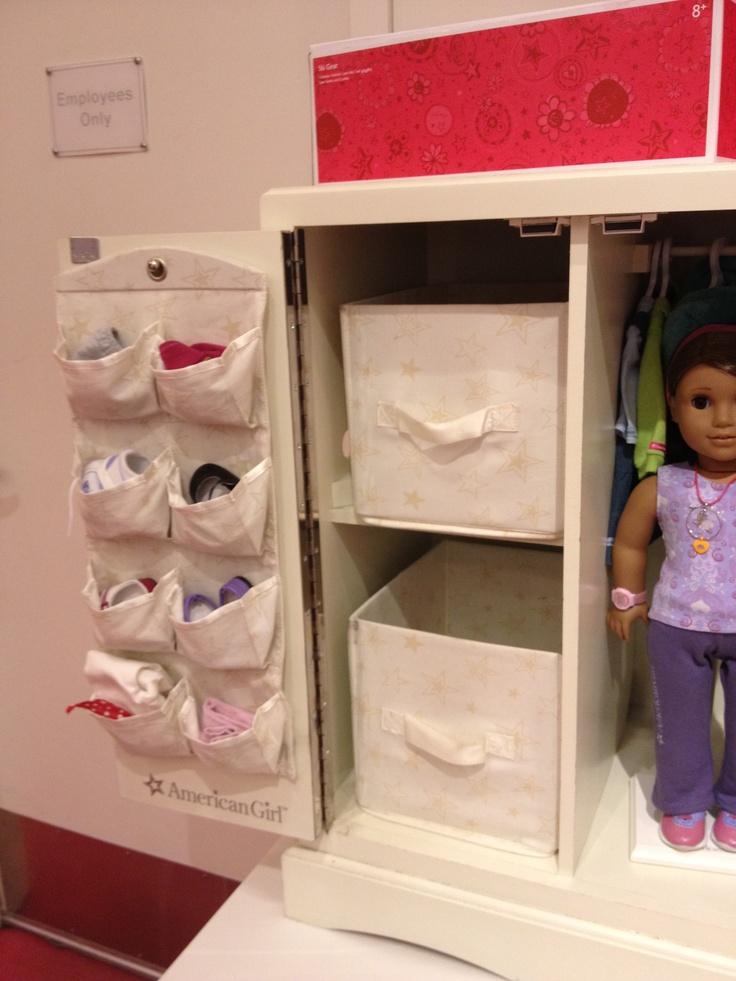 American Girl Doll Storage Cabinet Kid Gift Ideas