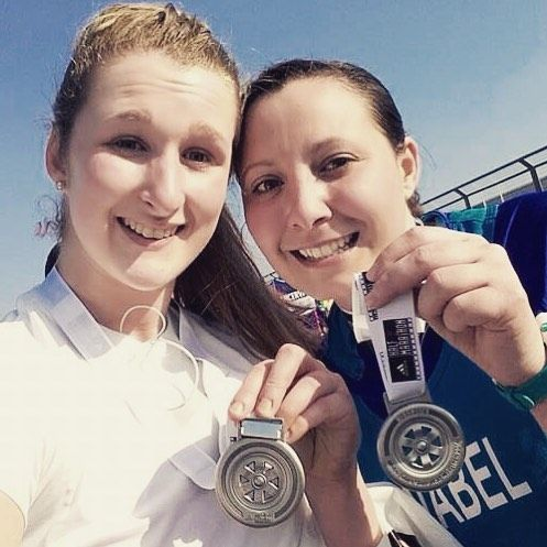 Congratulations to Annabel and Becky who completed the Silverstone Half Marathon for St Clare's Hospice yesterday! #stclare #silverstonehalf #mvphysio