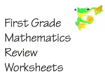 First Grade Mathematics Review Worksheets Booklet- 69 pages of 1st grade math review including, fractions, shapes, counting by 2s, 5s, patterns, addition, subtraction, calendar activities, money, and word problems. Worksheets are full of visual presentations to enhance learning and retention.