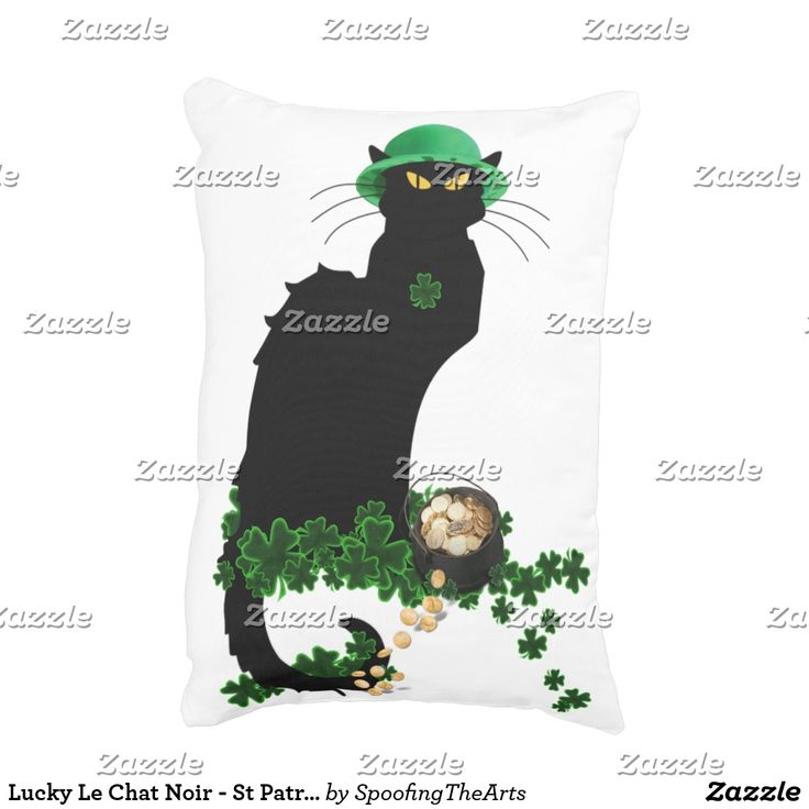 Lucky Le Chat Noir - St Patrick's D#stpatricksday st.patricks day #saints_patricksday saints patricks day treats saints patricks day kids saints patricks day outfits saints patricks day gift #saintspatricksday #womensday2018 #ebayproducts leggings st.patricks day womens tshirts womens day #womensday #costumes #pillows  st.drink party #patricksdayshirts #shamrock patricks day jewelry #toddler St. patricks day pillows #decoration #ornaments #mug st patricks day decorations