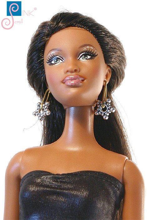 Barbie trinket earring: Miramar by Pinkscroll on Etsy - Barbie jewelry, Fashion Royalty doll jewelry