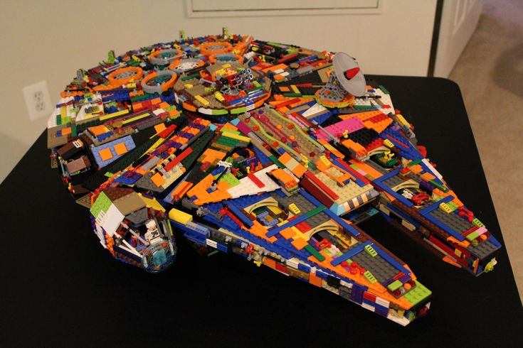 Multi-coloured Lego Millennium Falcon