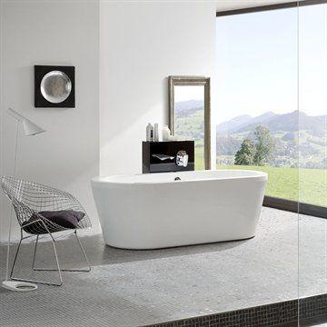 Fristående badkar Duo i minimalistisk design i superkvalitet från Tyskland  #interior #bathroom