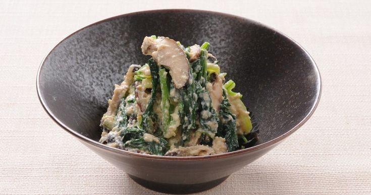 香ばしいしいたけと京壬生菜の風味を和え衣がふんわり包む