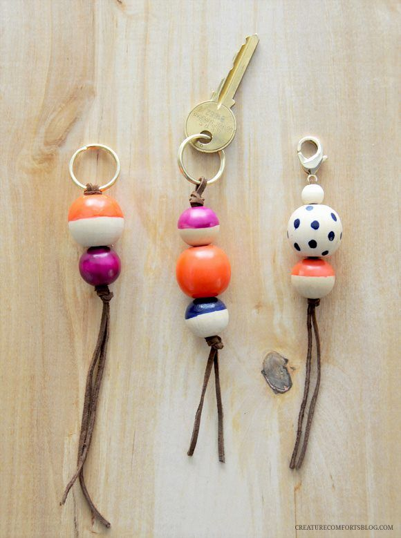 Beaded key rings