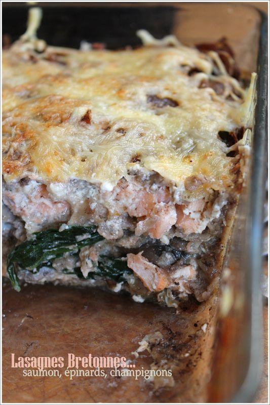 Lasagnes bretonnes au saumon