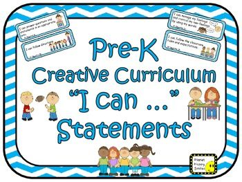 "64 Pre-K Creative Curriculum ""I can …"" Statements"