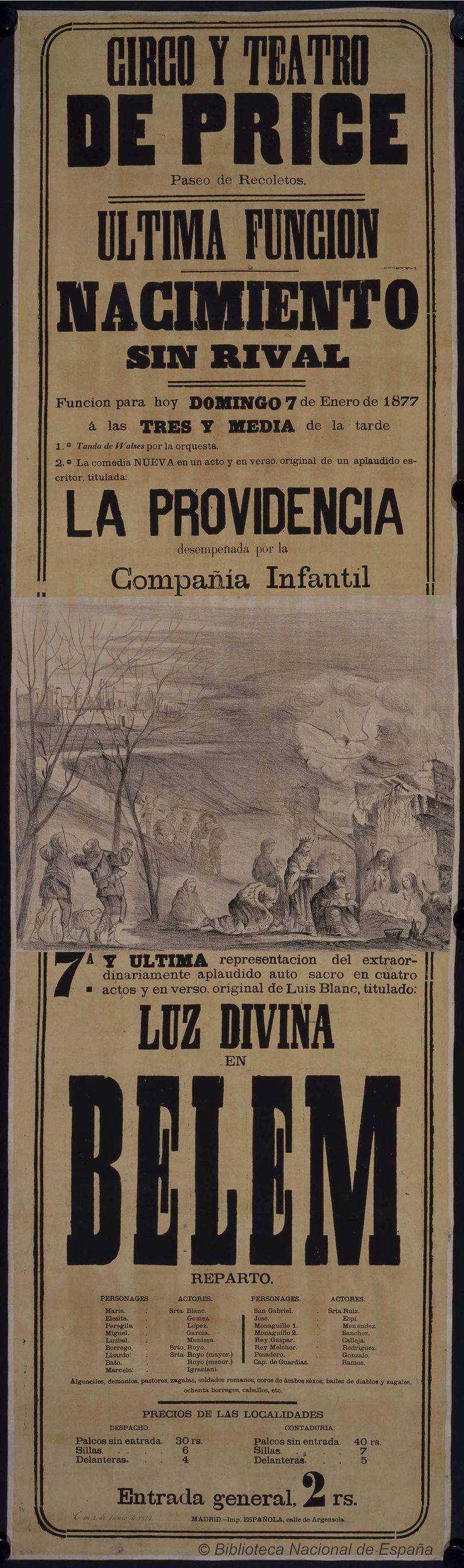 Nacimiento sin rival. Circo Price — Dibujos, grabados y fotografías — 1877