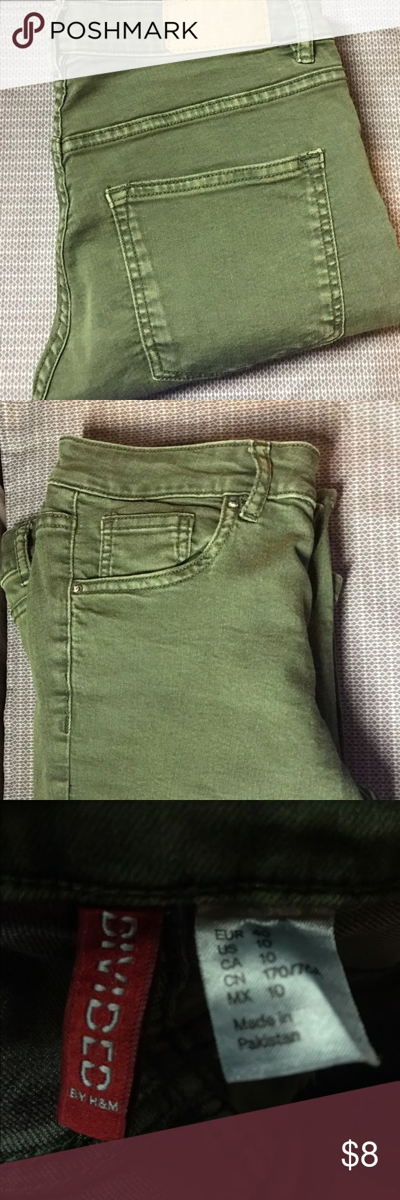 Green Skinny Jeans H&M Divided // Size 10 Long // Green Skinny Jeans // Only Worn 2-3 Times // Great Condition // H&M Pants Skinny