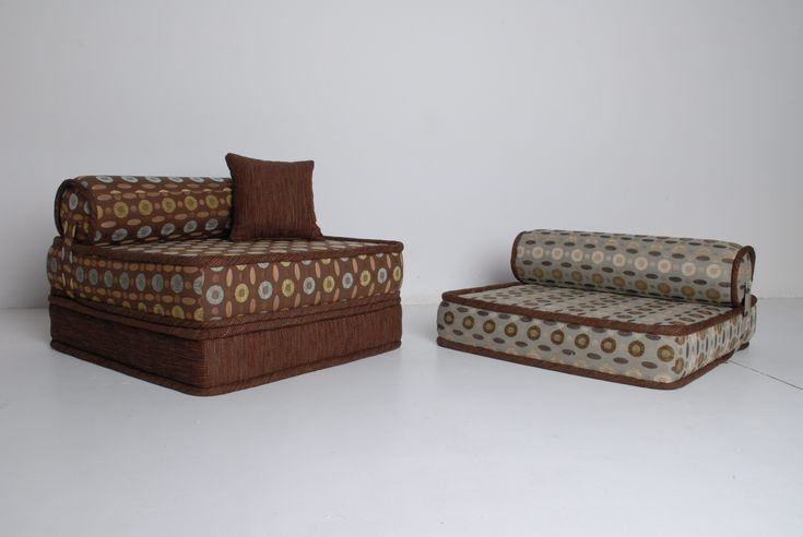 style classical multicoloured sofa, matrasses uder the head