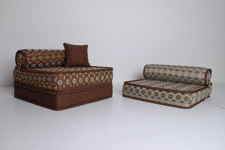 style classical multicoloured sofa, matrasses uder the head
