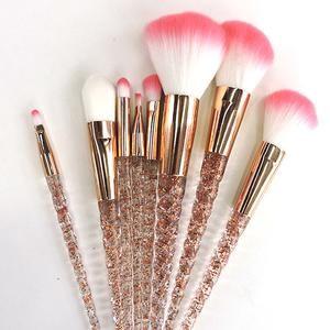 Aquarium Crystal 8 PCS Unicorn Brush Makeup Brush Set Nylon Hair Eyebr – Hot Sale Products free ship to worldwide