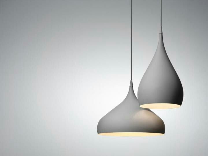Spinning BH2 - Suspension Lamp - Benjamin Hubert andtradition. The color is magnific but the lines... UOU. A modern suspension lighting ideas to use in dining room or living room projects. http://www.delightfull.eu/
