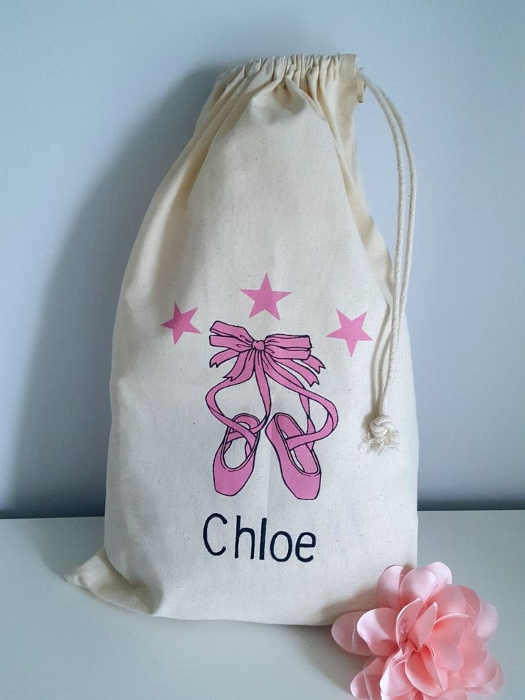 Personalised Dance Ballet Shoes Design Drawstring Bags  £7.99 Keep your personal items in style with personalised dance, gym, sport, PE bag. Ballet shoes design. Please send your name with order. Large Cotton Bags measure approx 30cm wide by 45cm long These b... http://facebook.com/makeuniquebags/app/251458316228/?~~id=88250722&~~mode=product&~~ts=1500478692024