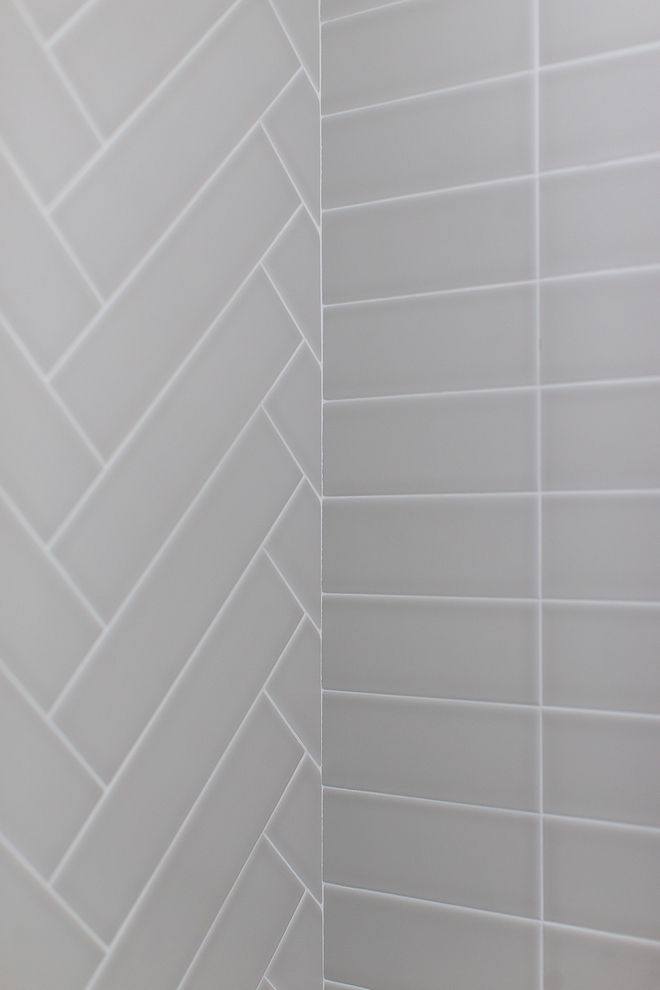 Matte Light Gray 4x16 Tile In Shower Set Straight And In