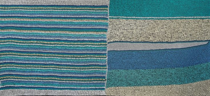 Coastline, Amanda Conway-Jones 111x51 cm   #AboriginalArt