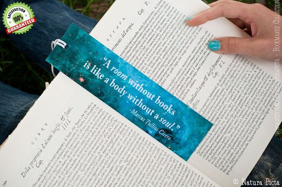 Blue Galaxy Bookmark quote calendar 2014 a room by naturapicta, $4.95 ©NATURA PICTA